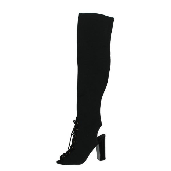 d1bbd2a916b Shop Guess Womens Calene 2 Over-The-Knee Boots Patent Block Heel - Free  Shipping Today - Overstock - 19436700