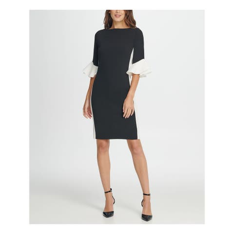 DKNY Black Bell Sleeve Above The Knee Dress 8