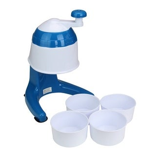 """11"""" Blue and White Snow Cone Maker With Cups"""