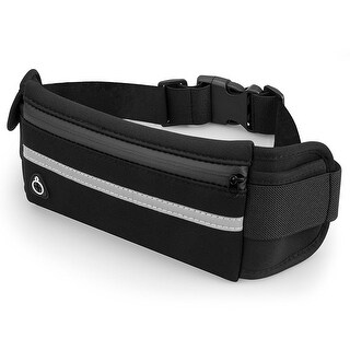Running Belt and Travel Pack for Jogging, Cycling and Outdoors with Water Resistant Pockets