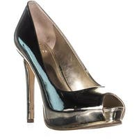 Guess Honora4 Peep Toe Pumps, Gold