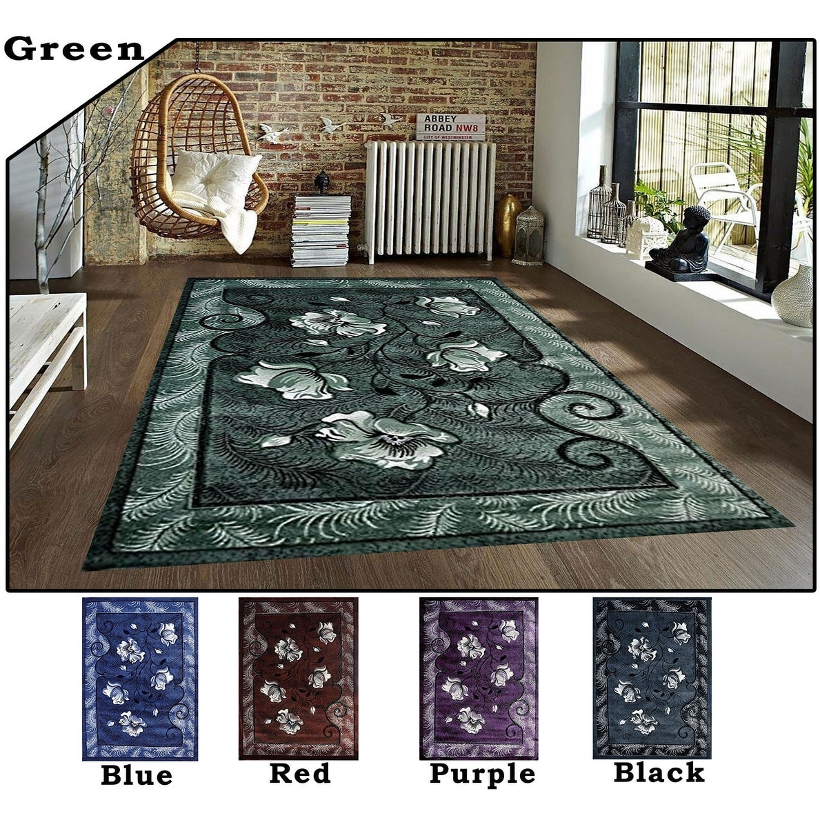 5 3x7 2 Rug Area Rug Carpet Green Black Purple Red Blue Modern Contemporary Polyester Hand Carved Living Room Bed Room Overstock 11979910