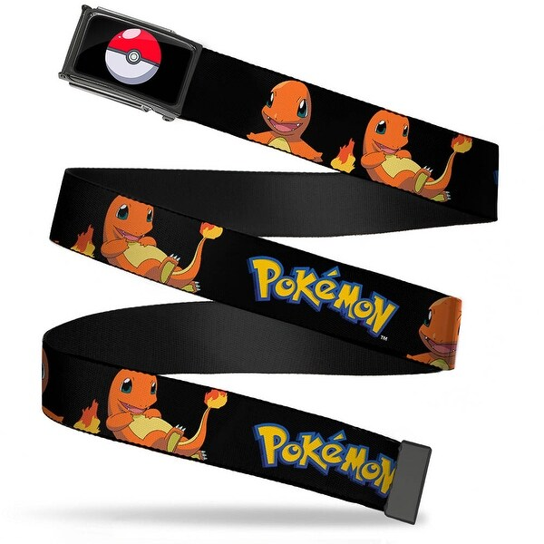 Poke Ball Fcg Chrome Pokemon Charmander Poses Black Webbing Web Belt
