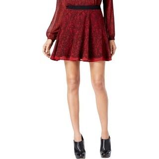 MICHAEL Michael Kors Womens A-Line Skirt Printed Mini