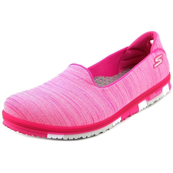 Skechers Go Mini Flex Women Round Toe Canvas Walking Shoe