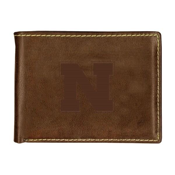 University of Nebraska Contrast Stitch Bifold Leather Wallet