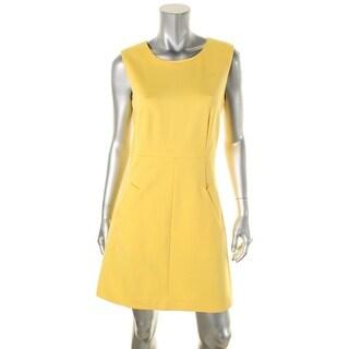 Diane Von Furstenberg Womens Capreena Wear to Work Dress Ponte Two-Way Zip