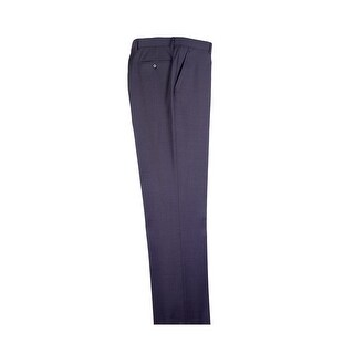 Gray Flat Front Dress Pants Pure Wool by Tiglio Luxe