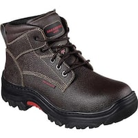 Skechers Men's Work Burgin Tarlac Steel Toe Boot Brown