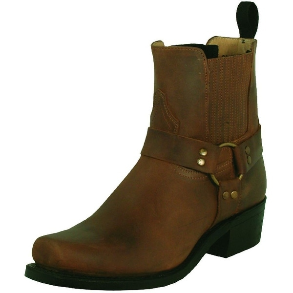 Boulet Motorcycle Boot Men Leather Dogger Strap Hill Billy Golden