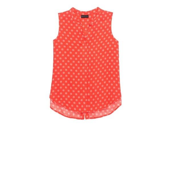 5cf7756d6e2 Shop Bobeau Fiona Button Back Polka Dot Shirt Plus Size - Free ...