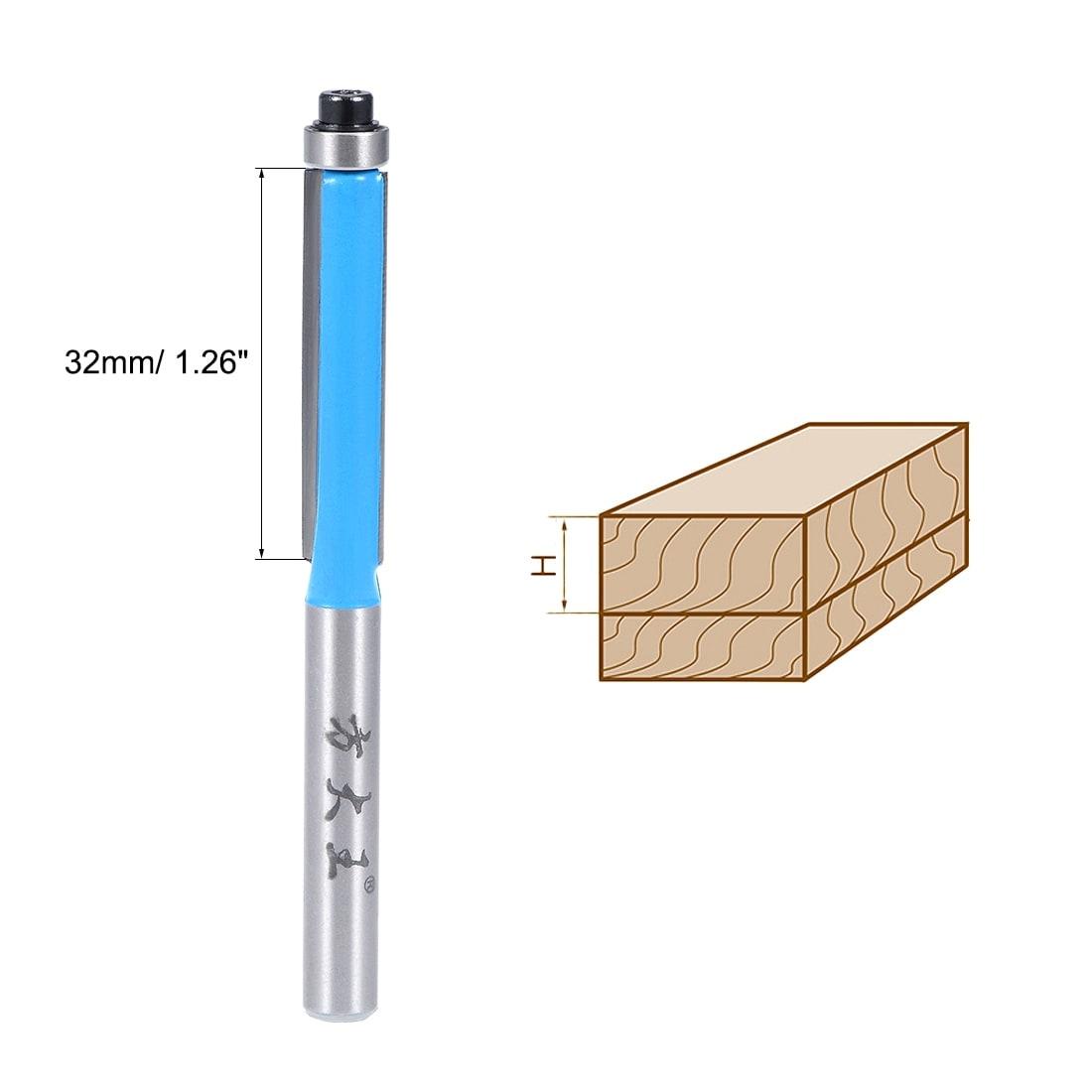 "1//4/"" Shank Dual Bearing Carbide Flush Trim Router Bit Woodworking 1-1//2/'/'"