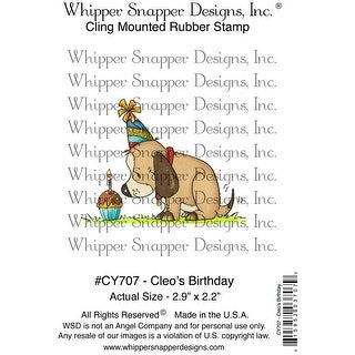 "Whipper Snapper Cling Stamp 4""X6""-Cleo's Birthday"