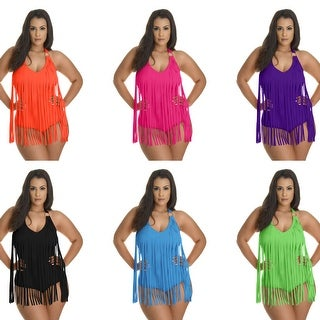 Plus Size Fringe One Piece Swimsuit (More options available)