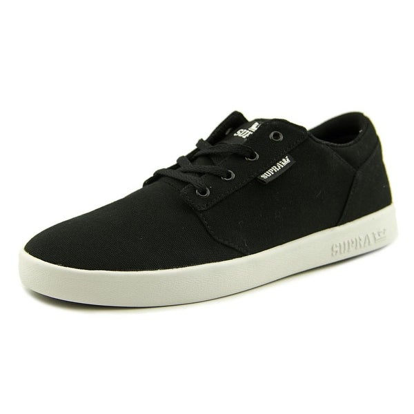 Supra Stacks Vulc II Men Round Toe Canvas Black Sneakers