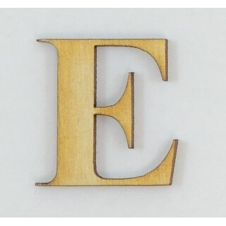 1 Pc, 12 Inch X 1/4 Inch Thick Times New Roman Bold Wood Letters E Great For Craft Project & Different Decor