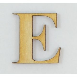 1 Pc, 5 Inch X 1/4 Inch Thick Times New Roman Bold Wood Letters E Great For Craft Project & Different Decor