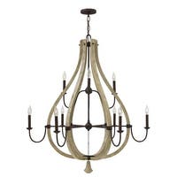 Fredrick Ramond FR40578 9-Light 2 Tier Chandelier from the Middlefield Collection - iron rust