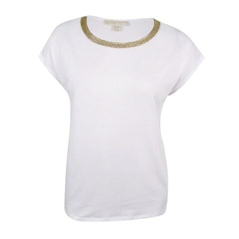 MICHAEL Michael Kors Women's Plus Size Embellished T-Shirt
