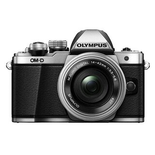 Olympus OM-D E-M10 Mark II Mirrorless Camera w/ 14-42mm Lens (Silver)