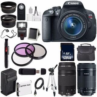 Canon EOS Rebel T5i 18 MP CMOS Digital SLR Camera (International Model) Canon EF-S 55-250mm Lens Bundle