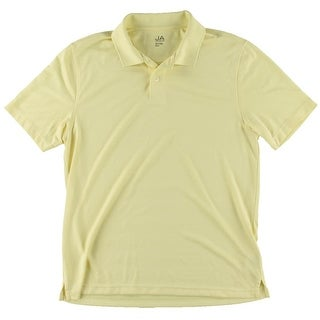 John Ashford Mens Moisture Wicking Shadow Stripe Polo Shirt - XL