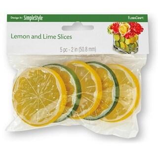 Design It Simple Decorative Fruit 5/Pkg-Lemon & Lime Slices