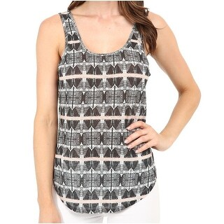 Joe's NEW Black Women's Size Medium M Tank Cami Printed Blouse