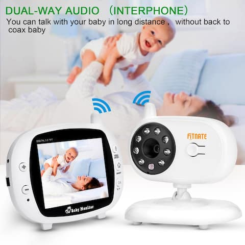 """3.5"""" Audio Video Baby Monitor, Wireless Digital Night Vision Safety Viewer - S"""