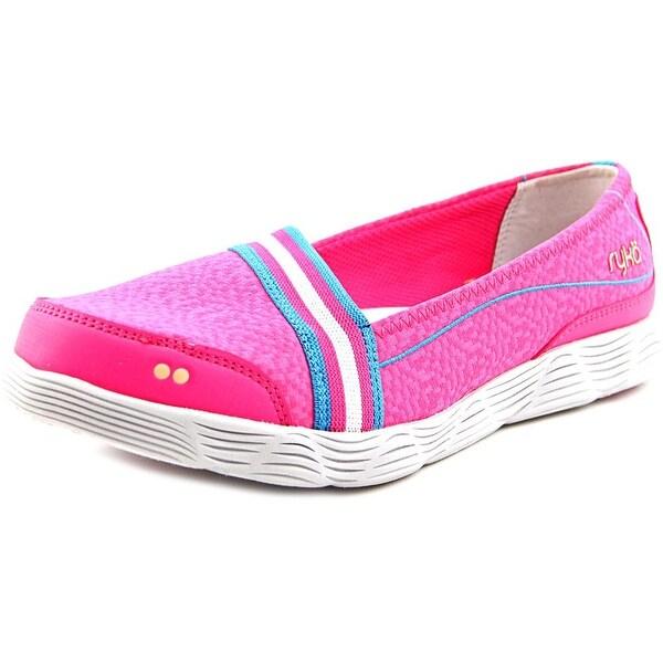 Ryka Swivel Plus Women W Round Toe Canvas Pink Walking Shoe