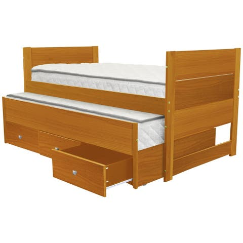 Taylor & Olive Begonia Honey Twin Bed and Trundle