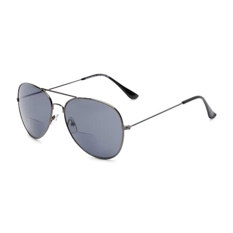Readers.com The Legacy Bifocal Reading Sunglasses Aviator Reading Glasses