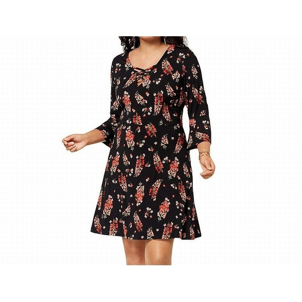 17abecdf03e Shop Fox + Royal Black Pink Womens Size 3X Plus Floral Print A-Line Dress -  Free Shipping On Orders Over  45 - Overstock - 27288243