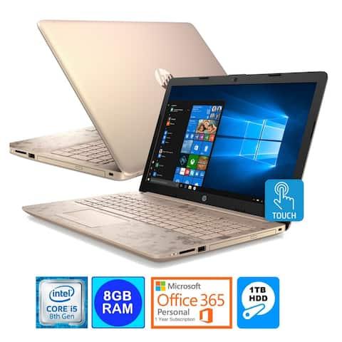 HP 15.6 Touch Screen Laptop Intel i5-8250U 8GB 1TB HDD Office 365 (Refurbished)