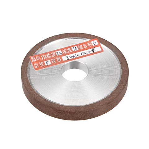 "3.15-Inch Diamond Grinding Wheels Resin Bonded for Carbide Metal 320 Grits 75% - 320 Grits - 3"" Flat Type"