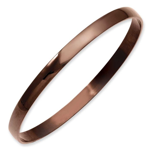 Stainless Steel Brown IP Plated Bangle