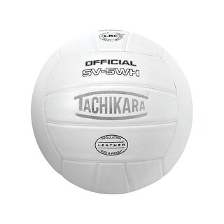 Tachikara SV5-WH NFHS Leather Volleyball, White