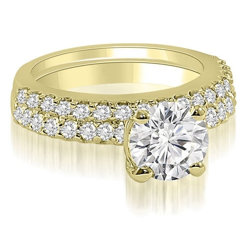 1.15 cttw. 14K Yellow Gold Round Cut Diamond Bridal Set