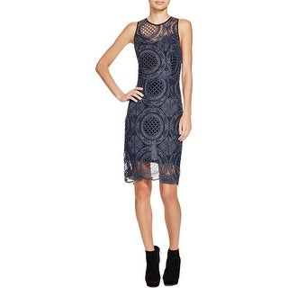 Charlie Jade Womens Casual Dress Sleeveless Lace