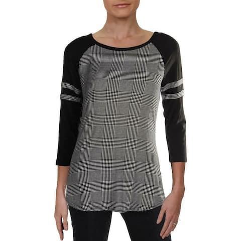Ultra Flirt Juniors Black Size Small S Houndsooth Knit Top Striped