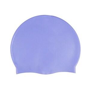 Unique Bargains Adult Blue Inside Textured Soft Silicone Swim Cap Hat