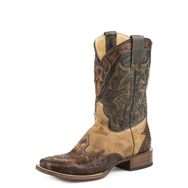 14f5bc561e2 Stetson Western Boots Mens Julian Pull On Tan