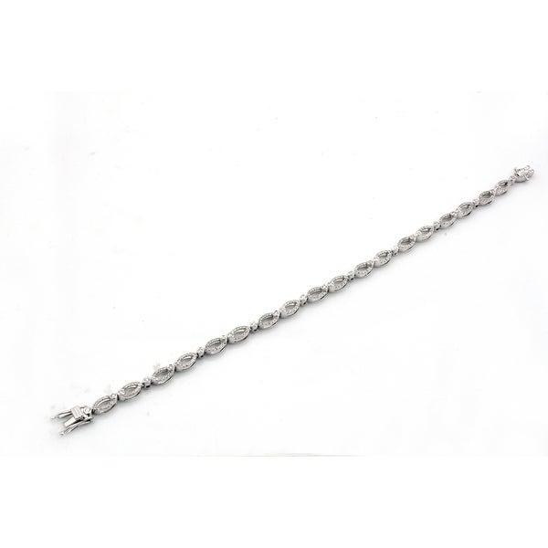 Brand New 0.95 Carat Round Brilliant Cut Natural Diamond Stylist Bracelet