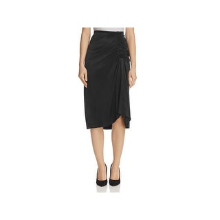 Theory Womens Pencil Skirt Silk Knee-Length