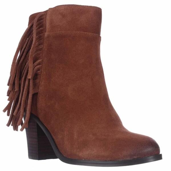 Kenneth Cole Alana Fringe Ankle Boots, Rust - 7 us / 37.5 eu