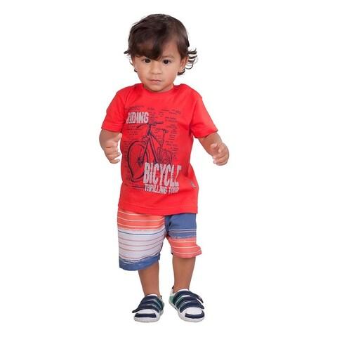 Pulla Bulla Baby Boy 2-Piece Set Graphic Shirt and Shorts Outfit