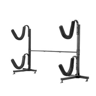 Link to Leisure Sports Kayak Rack - Heavy Duty Freestanding Indoor Outdoor Storage for Kayaks or Paddle Boards Similar Items in Boats & Kayaks