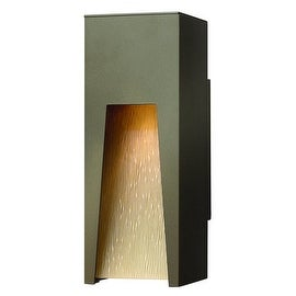 "Hinkley Lighting 1760 12"" Height 1 Light Dark Sky Outdoor Wall Sconce from the Kube Collection"