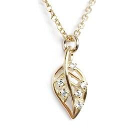 Julieta Jewelry Leaf Charm Necklace