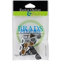Eyelet Outlet Shape Brads 12/Pkg-Sunglasses - Dark